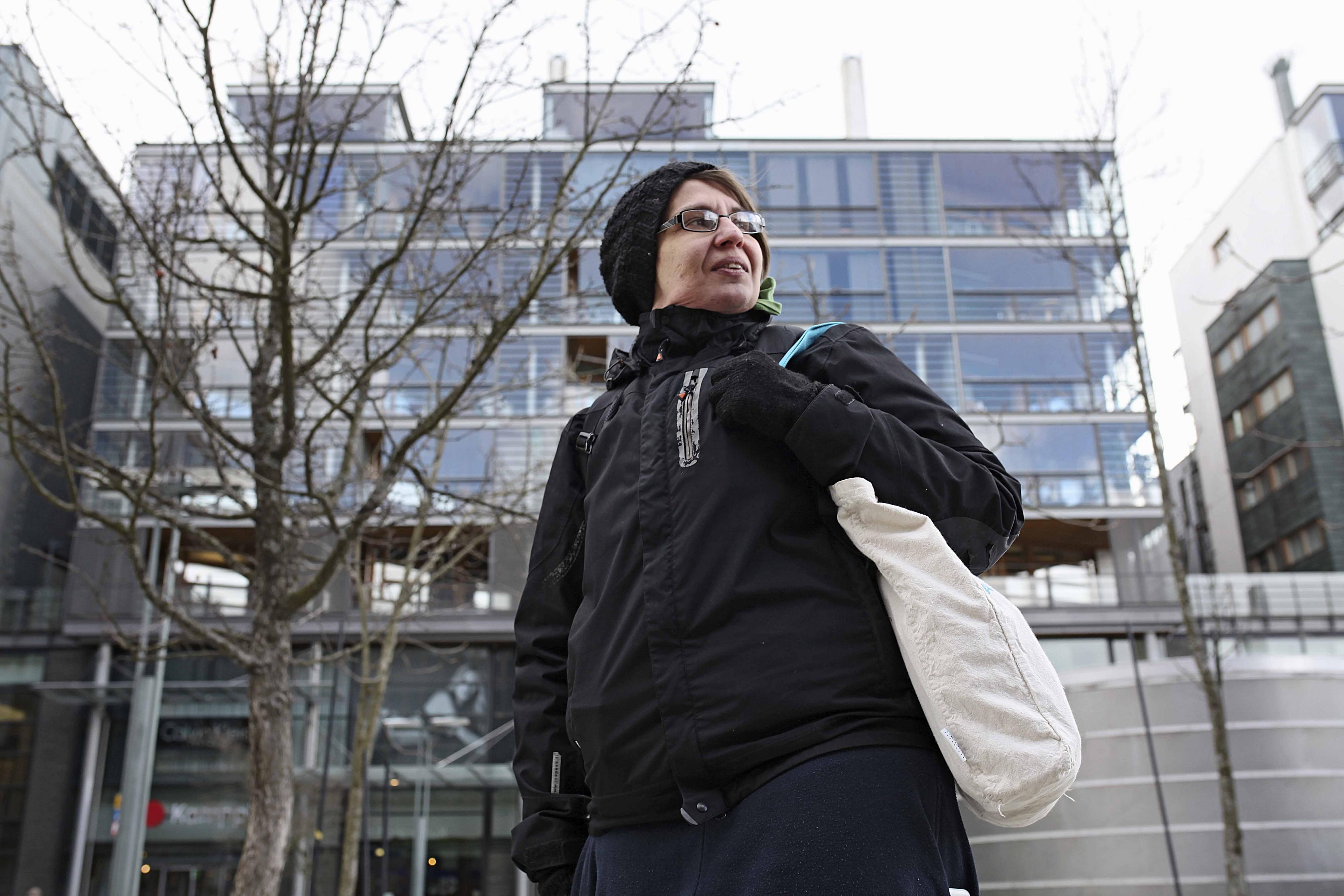 Kaisa Nevanperä on köyhyyden kokemusasiantuntija. Kuva: Kukka Ranta