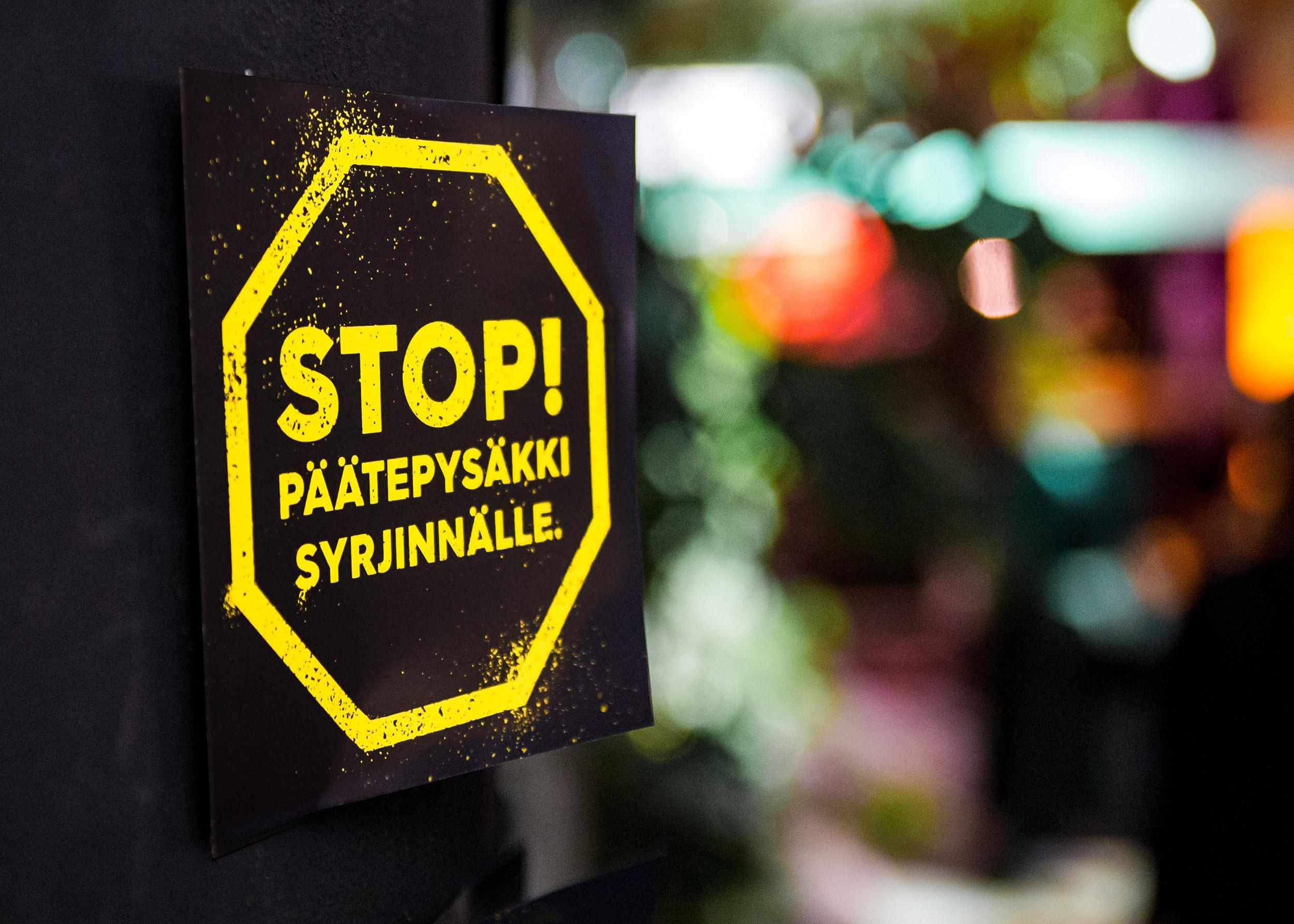 STOP! Päätepysäkki syrjinnälle -kampanjan logo