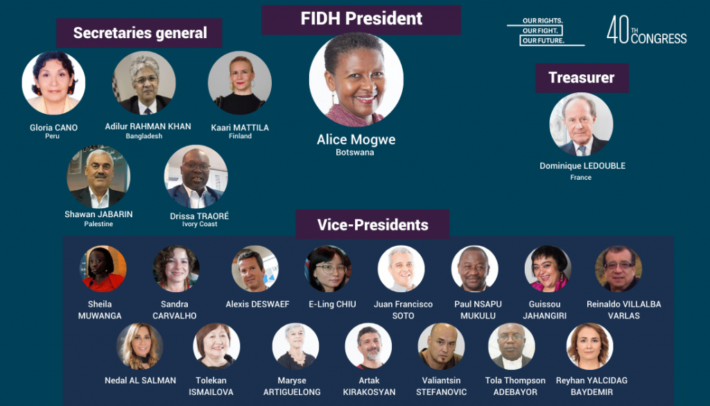 FIDH:n hallituksen jäsenet